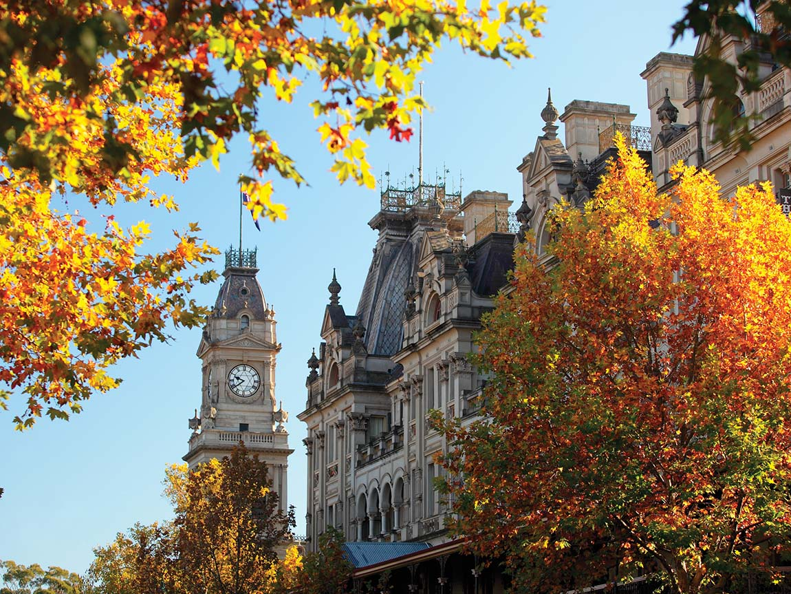 Bendigo in autumn, Goldfields, Victoria, Australia