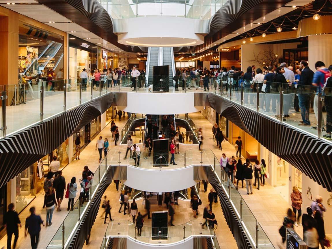 Interior of Emporium Melbourne shopping mall, Melbourne, Victoria, Australia