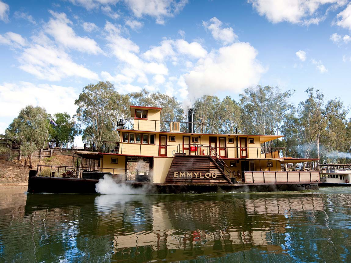 Emmylou on the Murray River at Echuca, The Murray, Victoria, Australia